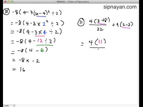 PEMDAS and Order of Operations Part 3 - Sipnayan